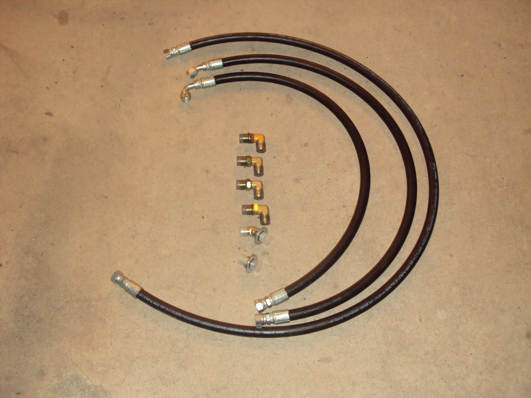 "2004-2005 5/8"" allison transmission cooler hose set #50200"
