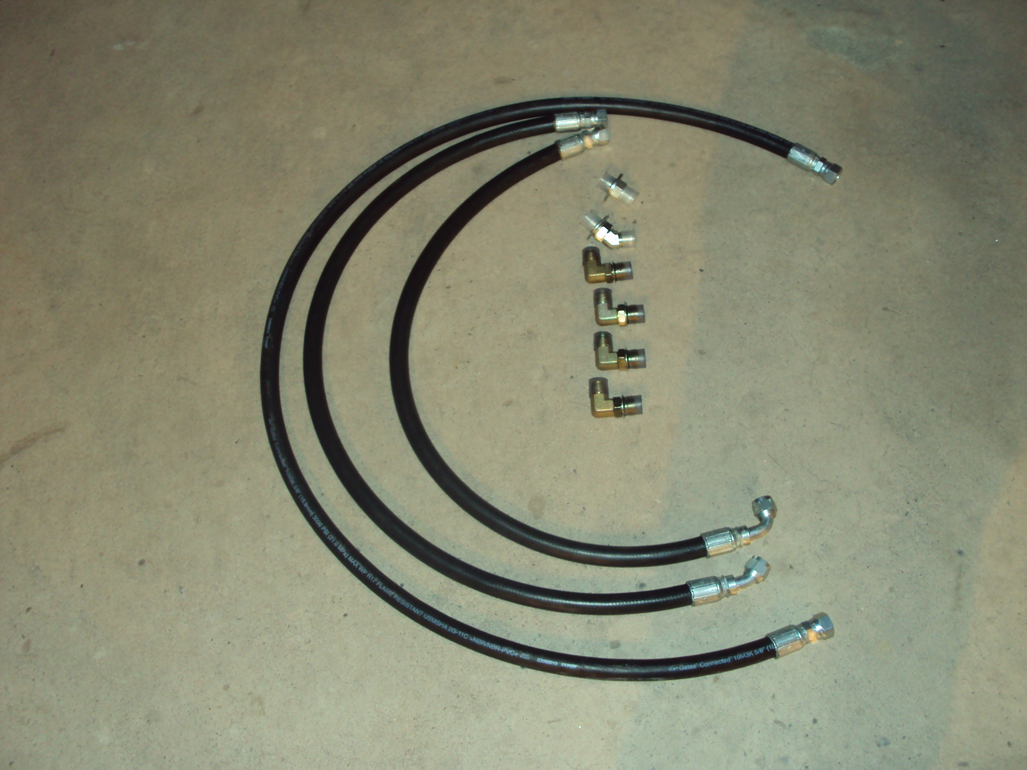 "2006-2009 5/8"" allison transmission cooler hose set #50300"